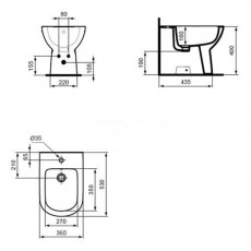 Биде Ideal Standard Tempo T510101