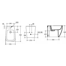 Биде Ideal Standard Ventuno T515001 напольное