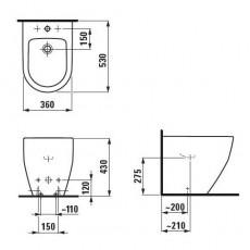 Биде напольное Laufen Pro New арт. 8.3295.2.000.302.1