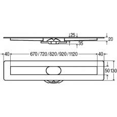 Дренажный канал VIEGA Advantix Basic 753214, 13х80х3,5 под плитку