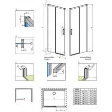 Душевая дверь Radaway Idea DWJ 140 387018-01-01, 140*200,5 см