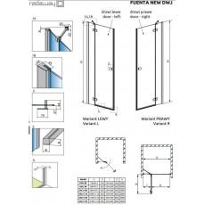 Душевая дверь Radaway Fuenta New DWJ 130 384017-01-01