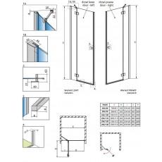 Душевая дверь Radaway Essenza New DWJ 80 385012-01-01