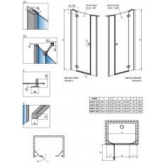 Душевая дверь Radaway Essenza New DWJS 140 385033-01-01