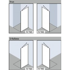 Боковая стенка Kermi Filia XP FX TWD 10020VPK, 100*200 см