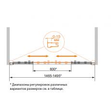 Шторка для ванны Cezares ECO-VF-2-170/145-Cr, 150 см