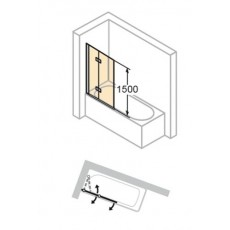 Шторка для ванны Huppe 501 Design pure 175231 распашная складывающаяся, левая