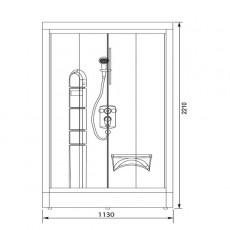 Душевая кабина Aquanet Malibu 86*86*221 см без гидромассажа 00172995