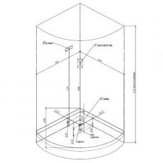 Душевая кабина Aquanet Malibu 86*86*221 см с гидромассажем с паром 00172287
