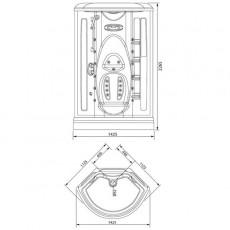 Душевая кабина Aquanet Taiti 110*110*227 см без гидромассажа без пара 00172992