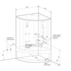 Душевой бокс Радомир Даниэла 140х140 см с гидромассажем и паром (комплект 1)