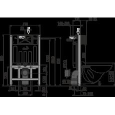 Инсталляция AlcaPlast Sadromodul AM101/850 для сухой установки