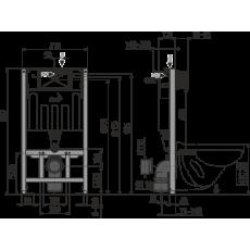 Инсталляция AlcaPlast Sadromodul AM101/1000 для сухой установки