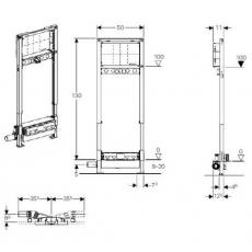 Инсталляция Geberit Duofix 111.580.00.1 для душевого трапа и смесителя встраиваемого