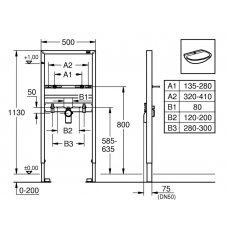 Монтажный блок Grohe Rapid SL 38554001 для раковины