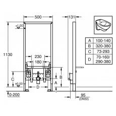 Монтажный блок Grohe Rapid SL 38553 для биде