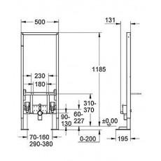 Монтажный блок Grohe Rapid SL 38581 для биде, усиленная