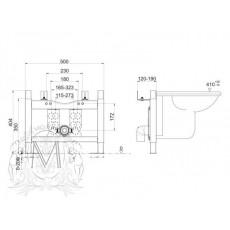 Система инсталляции Migliore Better ML.BTR-27.670 для подвесного биде с креплением