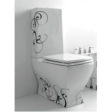 Крышка-сиденье ArtCeram Jazz JZ07, белая, хром