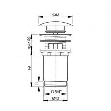 Донный клапан Ravak с переливом X01373,