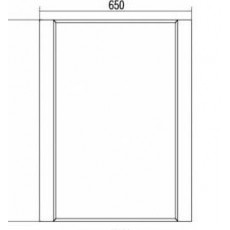 Зеркало Акватон Ария 65 арт. 1A133702AA010, белый, 65*85,8*2,1 см