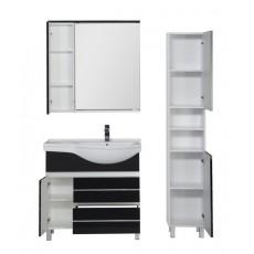 Комплект мебели Aquanet Доминика 90 R, цвет фасада черный