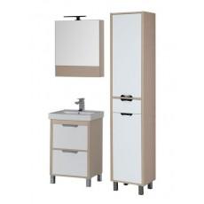 Комплект мебели Aquanet Гретта 60 (камерино, 2 ящика), цвет светлый дуб