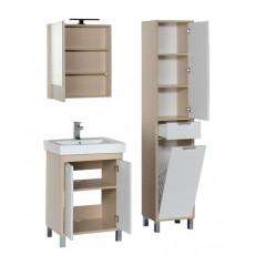Комплект мебели Aquanet Гретта 60 (камерино, 2 дверцы), цвет светлый дуб