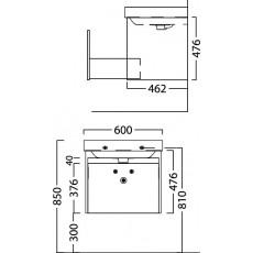 Мебель для ванной Kerama Marazzi Buongiorno 60 дуб