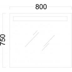 Мебель для ванной Kerama Marazzi Buongiorno 80 белая, с внутренним ящиком