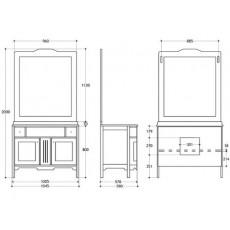Комплект Migliore Alicante PS.ALC-C105.DO 105 см, нежно-розовый
