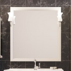 Зеркало со светильником Opadiris ГЛОРИЯ 75, слоновая кость