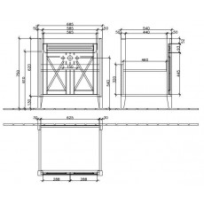 База под раковину Villeroy&Boch Hommage 8995 0001, орех