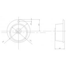 Мойка Акватон Иверия 480 мм арт. 1A711032IV250, серый шелк