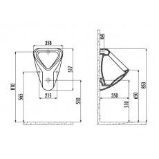 Писсуар Creavit TP630(TP630.00000) с встроенным сифоном