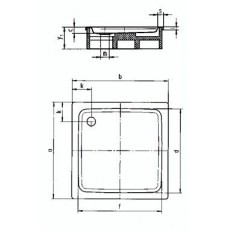 Поддон душевой Kaldewei Duschplan Mod. 545-2 арт. 4403.3500.0001 Anti-slip, 90*90*h16 cм