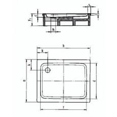 Поддон душевой Kaldewei Duschplan Mod. 418-2 арт. 4318.3500.0001 Anti-slip, 90*100*h16 cм