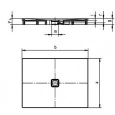 Поддон душевой Kaldewei Conoflat Mod 785-1 арт. 4655.300001, 90*120*h3,5 cм