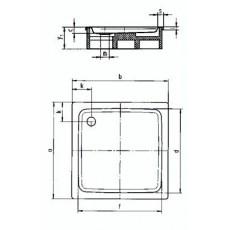 Поддон душевой Kaldewei Duschplan Mod. 392-2 арт. 4402.350001 anti-slip, 100*100*h16 cм