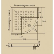 Поддон душевой Migliore ML.PDA-28.090.BI, 90*90 см