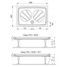 Поддон Ravak Galaxy Gigant Pro-120*80, арт. XA03G401010, 120*80*3 см