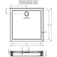 Акриловый душевой поддон Riho Davos 251 90x90 белый + панель DA5900500000000