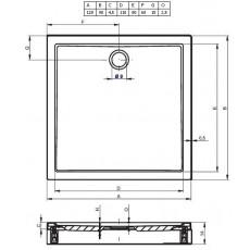 Акриловый душевой поддон Riho Davos 255 120x90 белый + панель DA6300500000000