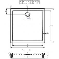 Акриловый душевой поддон Riho Davos 261 100x100 белый + панель DA6900500000000
