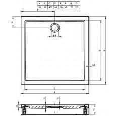 Акриловый душевой поддон Riho Davos 271 90x80 белый + панель DA7100500000000