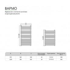 Полотенцесушитель водяной Benetto Вармо 110x60, 32/20 П30