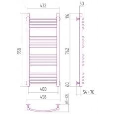 Полотенцесушитель водяной Сунержа Богема 1000x400 мм, арт. 00-0101-1040