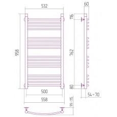 Полотенцесушитель водяной Сунержа Богема 1000x500 мм, арт. 50108 (00-0101-1050)