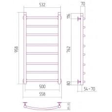 Полотенцесушитель водяной Сунержа Галант 1000x500 мм, арт. 00-0100-1050