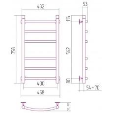 Полотенцесушитель водяной Сунержа Галант 800x400 мм, арт. 00-0100-8040